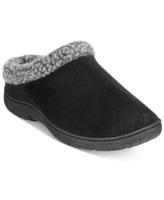 Memory Foam Roll-Collar Clog Slippers