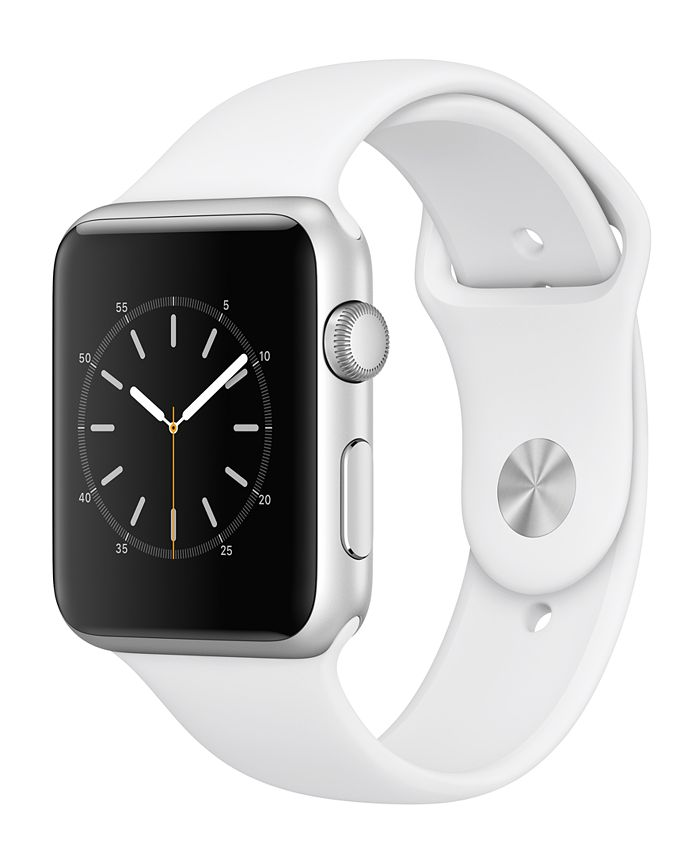 Apple Watch Series 1 - , 42mm Silver Aluminum Case with White Sport Band