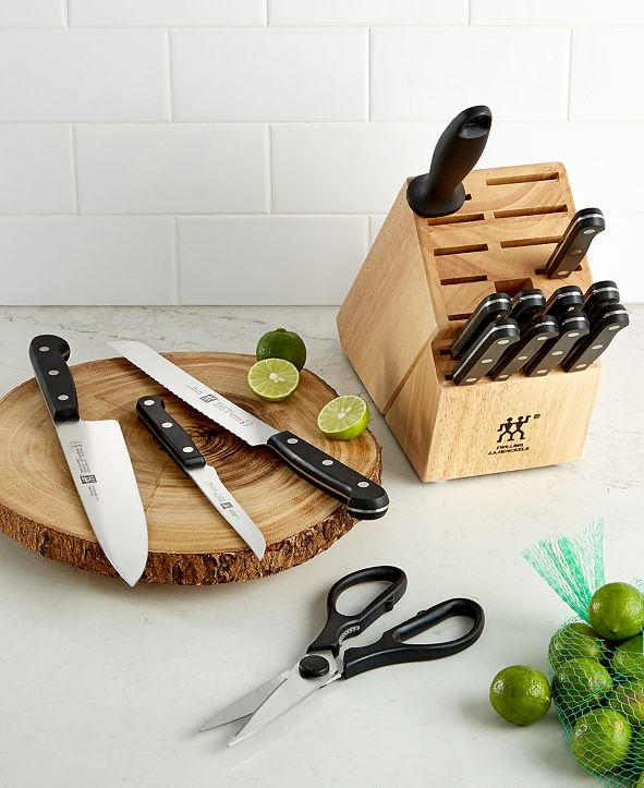 J.A. Henckels Zwilling Knife Block Set, Created for Macy's, 15 Piece Twin Gourmet