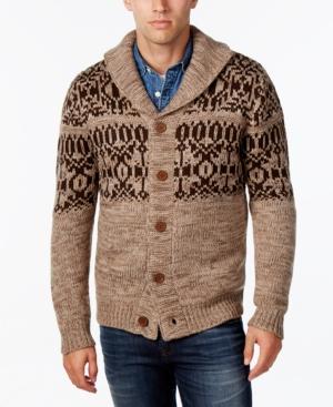 Men's Vintage Style Sweaters – 1920s to 1960s Weatherproof Vintage Mens Fair Isle Cardigan $125.00 AT vintagedancer.com