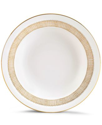 Vera Wang Wedgwood Gilded Weave Gold Rim Soup Bowl