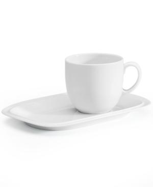 Denby Dinnerware, White Squares Buffet Saucer