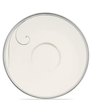 Noritake Dinnerware, Platinum Wave Saucer