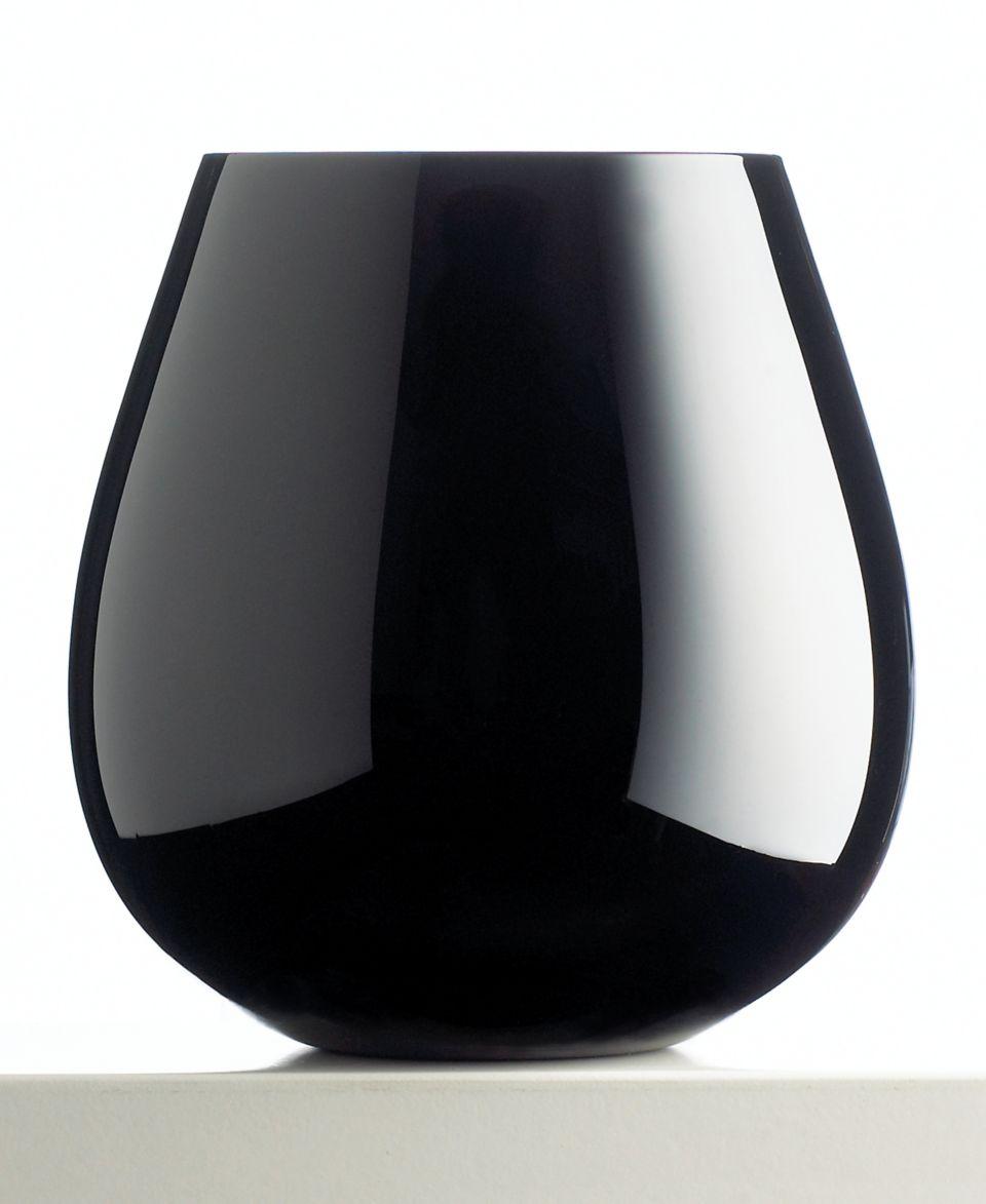 Artland Midnight Black 22 oz. Stemless Red Wine Glasses, Set of 4