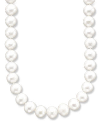 Cultured Freshwater Pearl Necklace (10-11 mm) - Pearl Necklaces