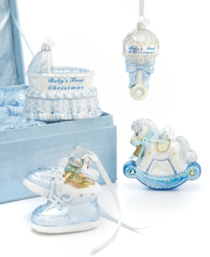 Kurt Adler Christmas Ornaments, Noble Gems Baby's First Christmas Gift Set