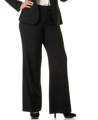 Jones New York Plus Size Pants, Wide Leg