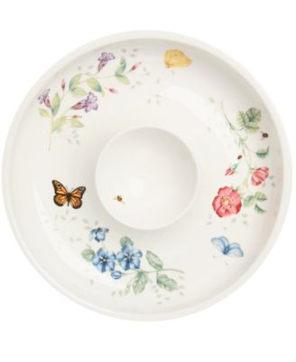 "Lenox ""Butterfly Meadow"" Chip and Dip Bowl, 12"