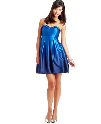 Ruby Rox Ombre Bubble Tube Dress - Dresses Back To School - Juniors  - Macy's :  dresses fitted at waist clothing macys