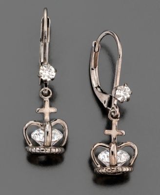 Betsey Johnson Crown Earrings