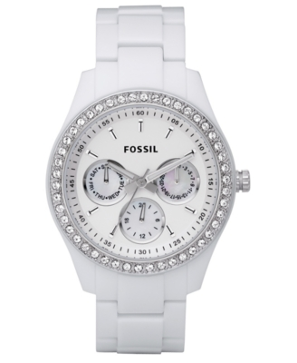 Fossil Watch, Women's White Plastic Bracelet ES1967