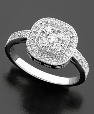 14k White Gold Diamond Ring (1/2 ct. t.w.)