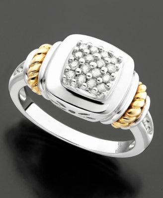 14k Gold & Sterling Silver Diamond Ring (1/4 ct. t.w.)