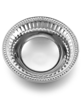 "Wilton Armetale ""Flutes and Pearls"" Dipping Bowl"