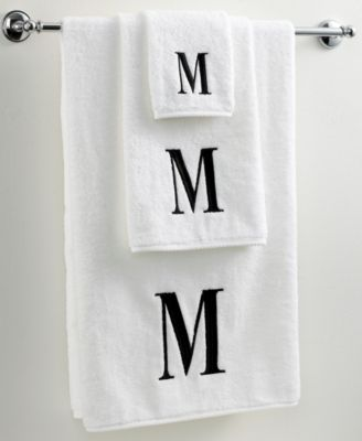 "Avanti Bath Towels, Black and White 16"" x 30"" Hand Towel"
