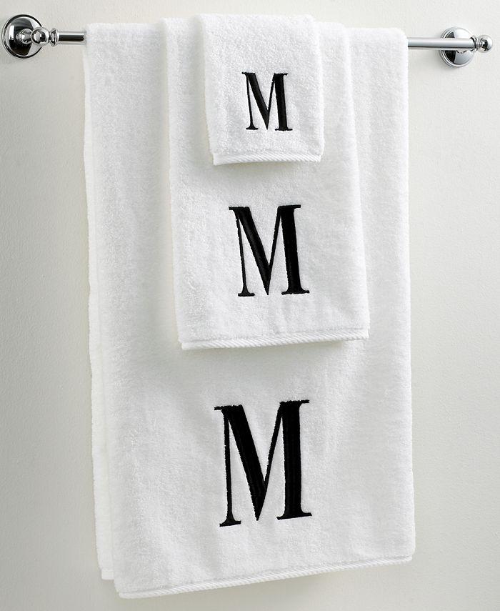 "Avanti - Black and White 16"" x 30"" Hand Towel"