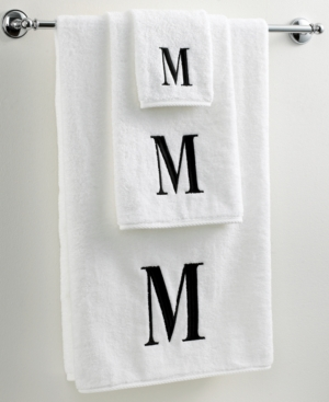 "avanti bath towels, black and white 12"" x 18"" fingertip towel"