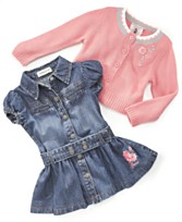 Guess? Baby Girl Denim Dress & Knit Sweater