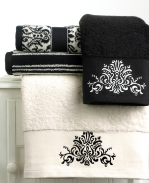 "Bianca ""Black and White"" Wash Towel, 13"" x 13"""