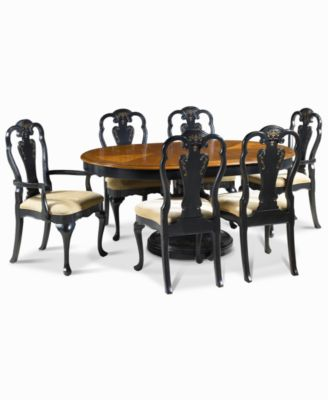 Hand Painted 5 Piece Dining Set Dining Table And 4 Side Chairs Furniture