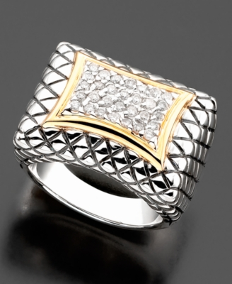 14k Gold & Sterling Silver Diamond Ring (3/8 ct. t.w.)