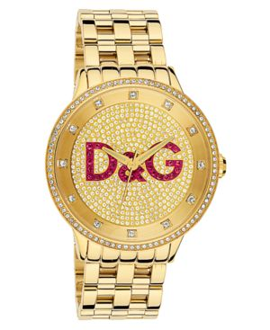 D&G Watch, Goldtone Stainless Steel Bracelet DW0377