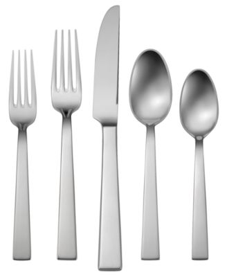 Oneida 18 10 Stainless Steel 20 Pc Aero Flatware Set Service For 4 Reviews Flatware Dining Macy S