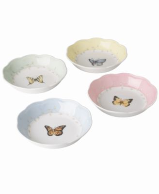 "Lenox ""Butterfly Meadow"" Fruit Dishes, Set of 4"