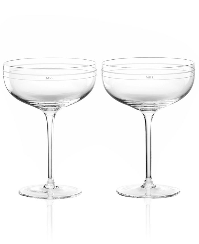 """kate spade new york - """"Darling Point"""" Champagne Saucer Pair"""