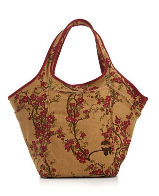 "Lucky Brand Jeans ""Lucky Off Shore Embroidered Cherry Bomb"" Tote - Totes & Top Handles - Handbags & Accessories  - Macy's from macys.com"