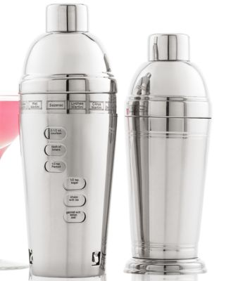 CLOSEOUT! Martha Stewart Collection Recipe Cocktail Shaker
