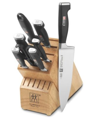 Zwilling J.A. Henckels TWIN Cutlery Set, 9 Piece Four Star II Block Set