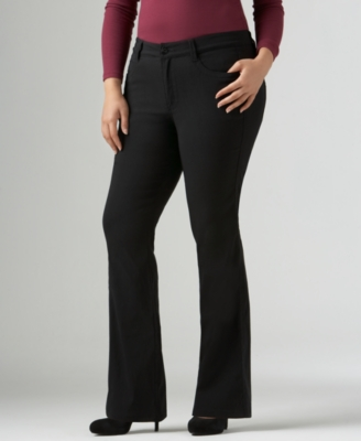 Calvin Klein Jeans Plus Size Pants, Boot Cut - Jeans
