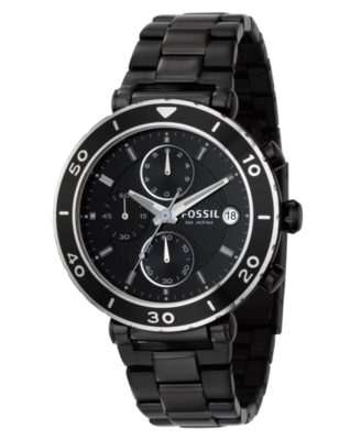 Fossil Watch, Women's Black Stainless Steel Bracelet CH2579