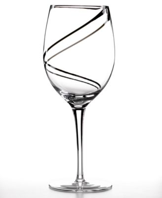 Luigi Bormioli Glassware, Set of 4 Black Swirl Goblets
