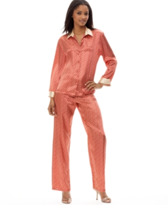 Jones New York Pajamas, Printed Satin - Pajamas & Intimates