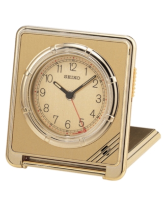 Seiko Clock, Goldtone Travel Alarm