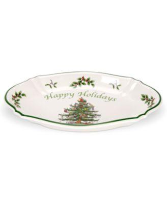 Spode Christmas Tree Happy Holidays Tray