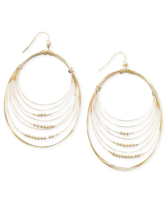 GUESS Earrings, Goldtone Hoop