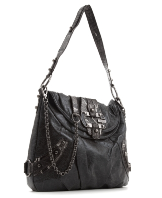 GUESS Handbag, Brady Flap Shoulder Bag - Leather Shoulder Bag