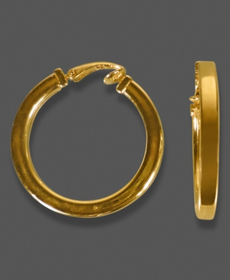 Etienne Aigner Earrings, Goldtone Hoop