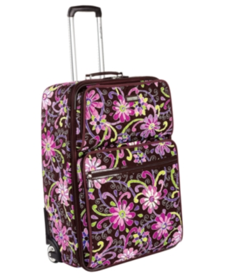 "Vera Bradley Suitcase, 21"" Purple Punch Expandable Carry-On - Rollerboard"