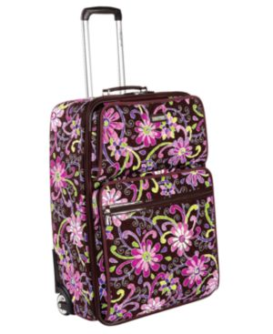 "Vera Bradley Suitcase, 21"" Purple Punch Expandable Carry-On"