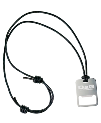 D&G Pendant, Leather and Stainless Steel