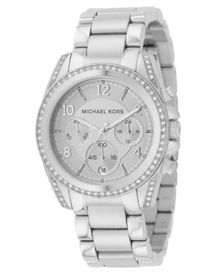 Michael Kors Watch Womens Blair Stainless Steel Bracelet 39mm MK5165
