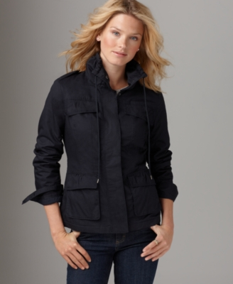 Calvin Klein Jeans Jacket, Twill Scrunch Collar