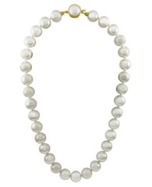 18k Gold over Sterling Silver Necklace, Organic Man-Made Pearl