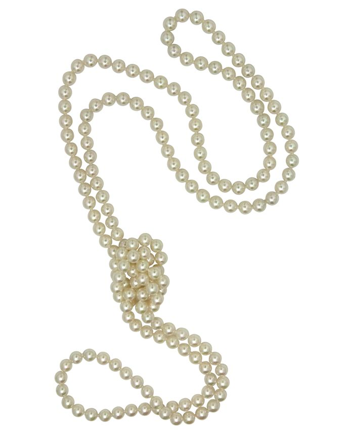 Majorica - Pearl Necklace, Imitation Pearl Endless Rope