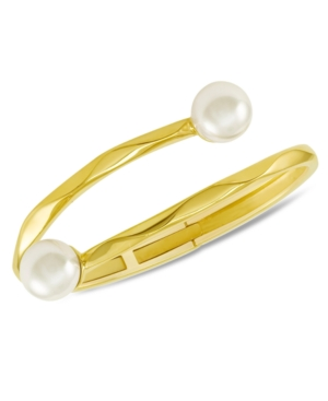 Majorica 18k Gold over Sterling Silver Bracelet, Organic Man-Made Pearl