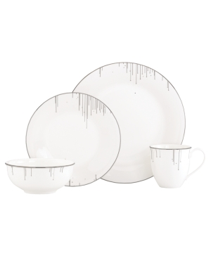 Lenox Lifestyle Dinnerware, Platinum Ice 4 Piece Place Setting